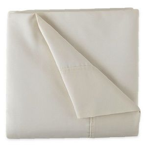 NIP Easy Care Twin Sheet Set Ivory 300ct JC Penney